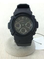 クォーツ腕時計・G-SHOCK/アナログ/ラバー/BLK/BLK