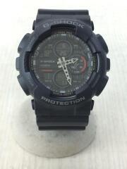 ソーラー腕時計/デジアナ/ラバー/BLK/GA-140/G-SHOCK