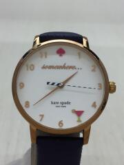 クォーツ腕時計/アナログ/WHT/NVY/KSW1040/ケイトスペードニューヨーク