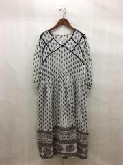 Georgette Pattern Dress/ジョーゼットパターンドレス/36/レーヨン/IVO