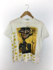 Tシャツ/M/コットン/WHT/プリント/バスキア/W26102