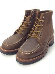 ブーツ/US7/BRW/ チペワ/1991M64/6モックラギットフィールド/ワークブーツ/スウェード