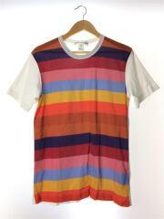 Tシャツ/L/コットン/マルチカラー/ボーダー/ コムデギャルソンシャツ/2020SS/S28103/中古