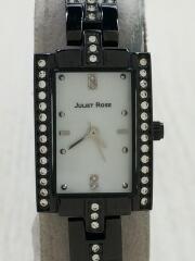 JULIET ROSE/クォーツ腕時計/アナログ/WHT/BLK