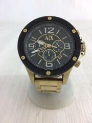 クォーツ腕時計/アナログ/ステンレス/ブラック/黒/AX1511/クロノグラフ/3針/カレンダー