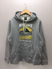 STUSSY/パーカー/L/コットン/GRY