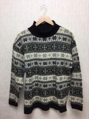 セーター(厚手)/--/ウール/GRY/総柄