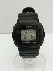 CASIO×PORTER/クォーツ腕時計/デジタル/ナイロン/GRN