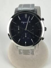 クォーツ腕時計/VD53-KW80/デジタル/BLU/SLV