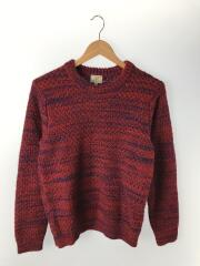 セーター(厚手)/M/ウール/RED/3213-105-0272/アルパカ混