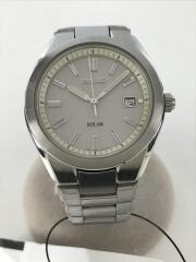 ソーラー腕時計/アナログ/ステンレス/SLV/SLV/V145-0BL0