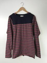 長袖Tシャツ/50/コットン/NVY/ボーダー/0022dsSS17/ロンT/カットソー