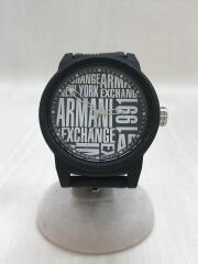 クォーツ腕時計/アナログ/ラバー/BLK/BLK/AX1443/5ATM