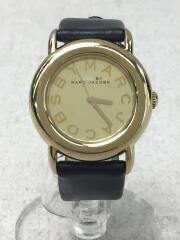 クォーツ腕時計/アナログ/レザー/GLD/BLK/MBM1221