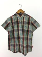 半袖シャツ/M/コットン/マルチカラー/チェック/NTW-4039