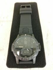 LUMINOX ルミノックス クォーツ腕時計/アナログ/ラバー/BLK