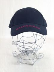 BASEBALL CAP/赤ロゴ/保存袋付/キャップ/L/コットン/黒×赤// /
