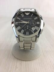 クォーツ腕時計/アナログ/ステンレス/ブラック/黒/シルバー/AR-0673/クロノグラフ/3針