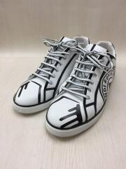 Trompe Loeil Stamp Leather Sneakers/スニーカー/UK8/WHT/7E1389