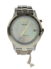 7B22-0BK0/スピリット/ソーラー腕時計/アナログ/ステンレス/シルバー