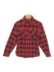 90s/ネルシャツ/--/ウール/レッド/チェック/ヴィンテージ/長袖シャツ