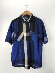 半袖シャツ/L/コットン/BLU/CLASSIC GIANT PLAID SHIRTS