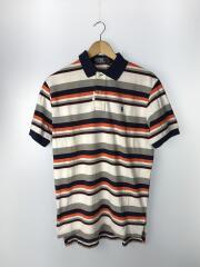 ポロシャツ/M/コットン/ボーダー