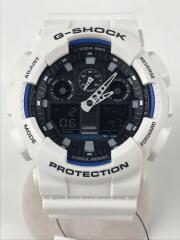 クォーツ腕時計・G-SHOCK/デジアナ/WHT/GA-100B/ジーショック