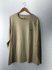 ロンT/長袖Tシャツ/L/コットン/BEG/GMT-20F1705