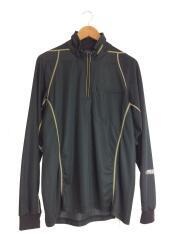 SH-013F スポーツウェアー/LL/SH-013F ブラック ジップアップシャツ
