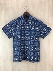アロハシャツ/半袖シャツ/M/コットン/ブルー/5558