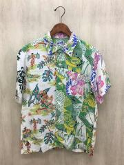 クレイジーアロハシャツ/半袖シャツ/S/レーヨン/総柄/11-01-0920-086
