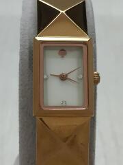 クォーツ腕時計/アナログ/ゴールド