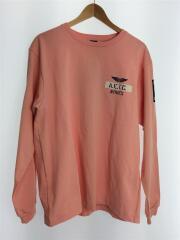 AVIREX/アヴィレックス/長袖Tシャツ/XL/コットン/ピンク/6113301/2021SS
