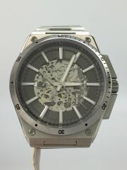 自動巻腕時計/アナログ/ステンレス/GRY/SLV//  WILDER バックスケルトン  MK-9021