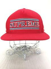 striped 5panel cap/--/RED/赤/ストライプ/ジェットキャップ/レッド