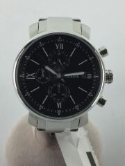 Rhett/クォーツ腕時計/アナログ/ステンレス/ブラック/黒/シルバー