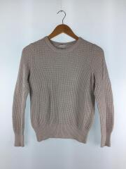 セーター(薄手)/38/コットン/GRY/灰色/カシミヤ混/サーマル/ワッフル/H5N01-631-05