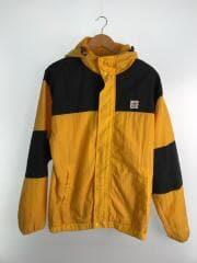 フードトラックジャケット/マウンテンパーカ/M/ナイロン/YLW/黄色/黒/バイカラー/9323103