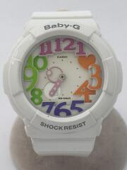 クォーツ腕時計・Baby-G/デジアナ/ホワイト