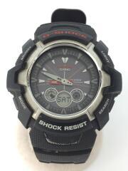ソーラー腕時計・G-SHOCK/デジアナ/ラバー/BLACK/ブラック/黒/