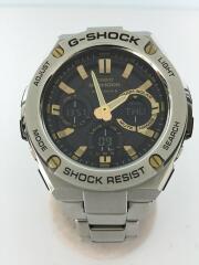ソーラー腕時計・G-SHOCK/デジアナ/シルバー/ジーショック/電波 G-STEEL  GST-W110D-1AJF