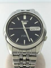 セイコー5/自動巻き腕時計/アナログ/ステンレス/BLK/SLV/ブラック/7s26-01v0