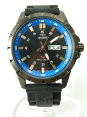 クォーツ腕時計/アナログ/ラバー/BLK/BLK/黒/UG1X-E0-B
