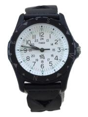 SAFARI/クォーツ腕時計/アナログ/レザー/BLK