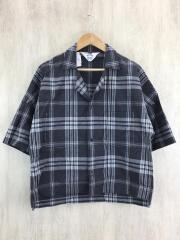 19SS/CHECK FRIED SHRIMP SHIRT/3/コットン/GRY/チェック//半袖シャツ オープンカラー