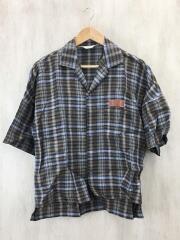19SS/SPEC LINEN CHECK SHIRT/19S23/2/リネン/BEG/チェック//半袖シャツ オープンカラー