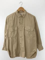 19AW/ミリタリーオーバーシャツ/長袖シャツ/FREE/コットン/ベージュ/swfb194089