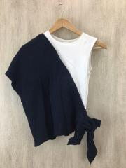 STAIR/ステア/DRY WAFFLE TOPS/FREE/コットン/NVY