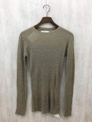 20SS/Crewneck Sheer Knit/FREE/レーヨン/BEG